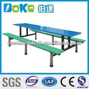 Glass fiber dining table set/school furniture