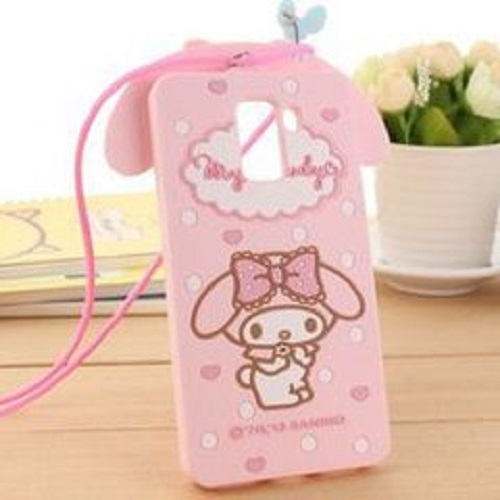 Hot sell cute pink silicone cartoon mobile phone cover