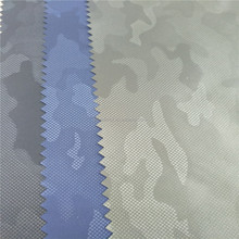 Camouflage waterproof embossed and coated memory fabric for clothing,garment,hometextile,lining