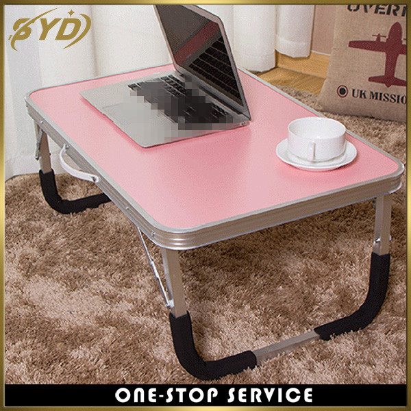 Aluminum portable lazy computer desk school desk on bed with Handle