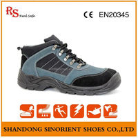 Breathable lining Steel toe Hill climbing safety shoes ,Steel blue safety shoes ,Double Safety double safety Footwear RS139