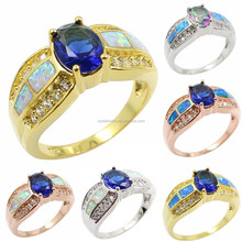 Oval Shaped Mystic Topaz Opal 925 Sterling Silver Rings Jewelry