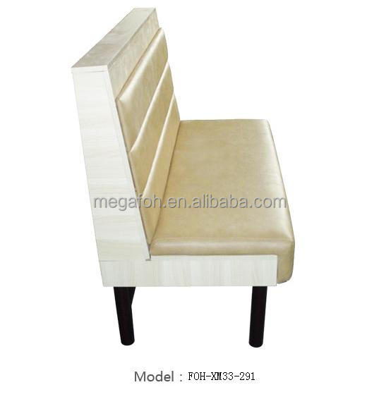 Fashionable White Leather Small Restaurant Sofa(FOH-XM33-291)