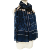Long Scarf Plant Printed Cheap Woven Lady Shawl