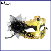 hot sale golden masquerade party mask latest carnival ball party mask with daimond SCM0010