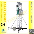 HDT-40 Tower height 12m loading 2000kg high quality sound system truss tower for stage