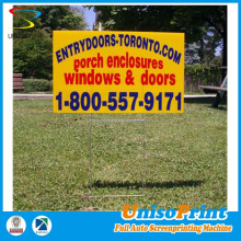 Screen Printed Coroplast Yard Signs / Lawn Signs from Shanghai