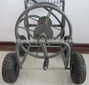 home Garden hose reel cart with four wheel