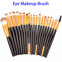 Amazon Hottest Items 20pcs Cosmetic Eyebrow Oval Makeup Brush