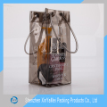Fashion design clear PVC Plastic ice bag for wine promotion