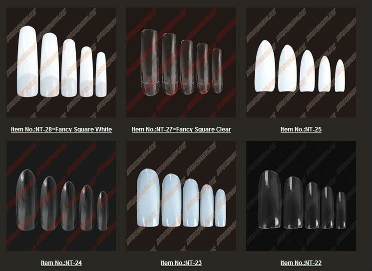 crylic nail designs nail art artificial fingher nail french tip