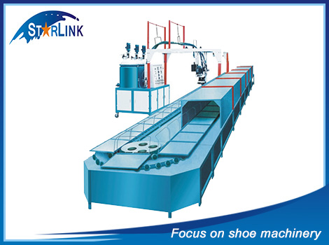 2016 Popular SLM-6-05 Wenzhou Starlink Pipelined PU Shoe Making Injection Molding Machine Price