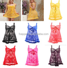 Good quality lace women babydoll lingerie good quality women suspender night dress N6031