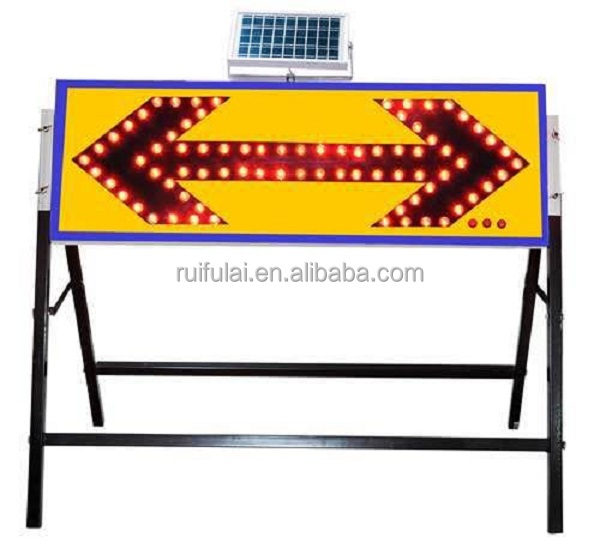 Traffic safety led arrow sign solar powered road construction programmable led signs