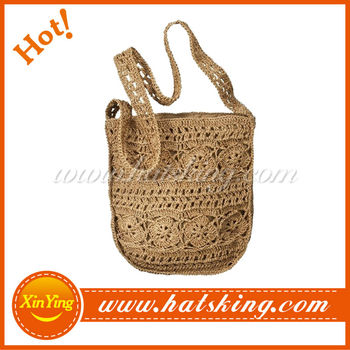 new style cheap paper straw beach bag crochet straw handbag