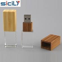 OEM USB2.0 3.0 Bamboo Crystal Usb Flash Drive Usb Memory Stick For Promotional Gifts
