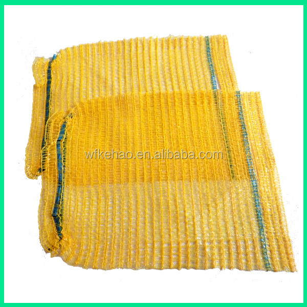 Pe raschel net bag packing fresh fruit vegetable mesh bag for potatoes onions