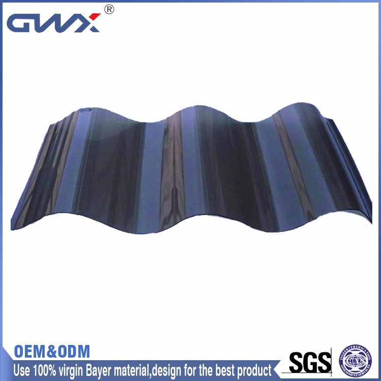 Easy Installation Black Corrugated Plastic Roofing
