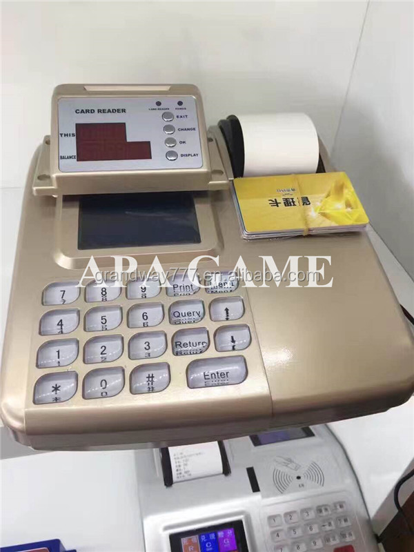 Cashless card management system for fishing hunting arcade game machines