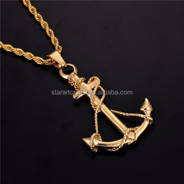 hot products latest design stainless steel 58x33mm gold pendant P607G