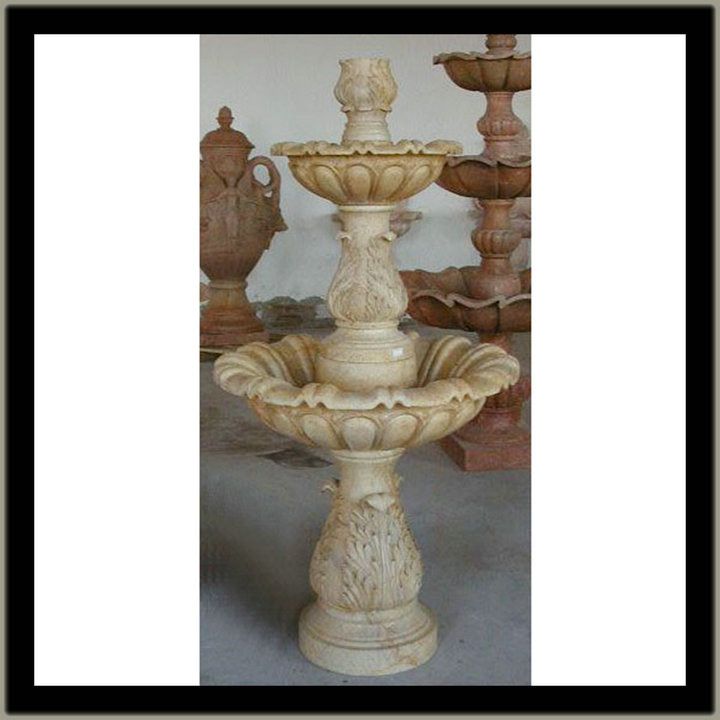garden marble fountain basin