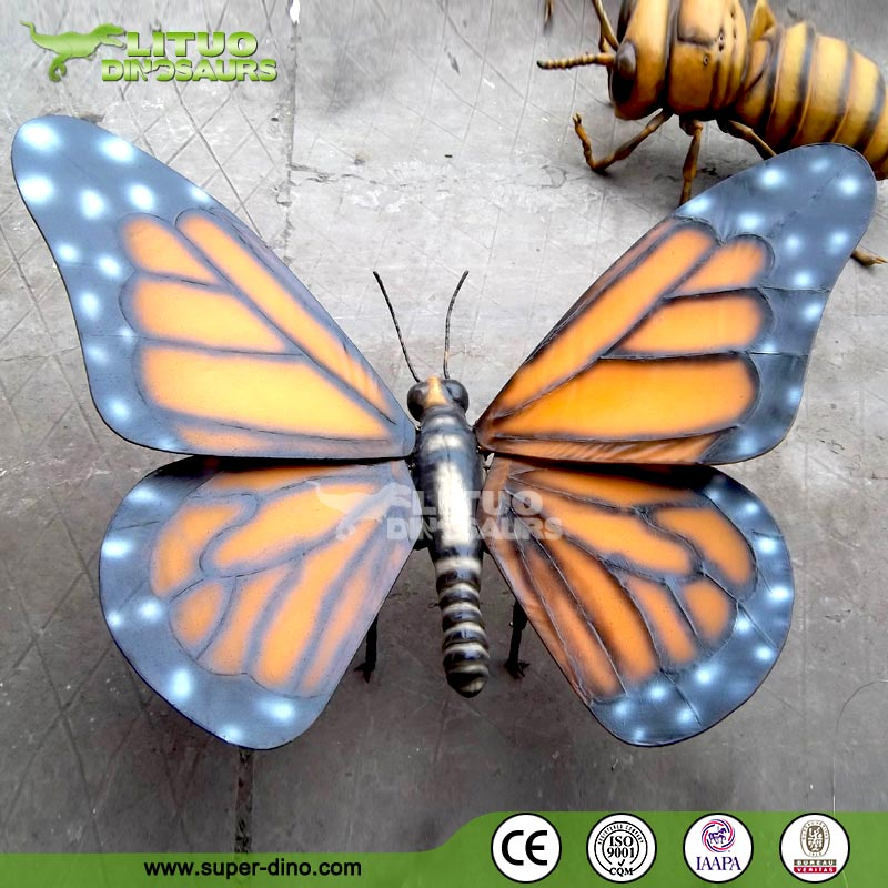 Children amusement park insects colorful big size butterfly model
