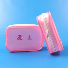 pink mini vanity PVC small cosmetic pouch bag