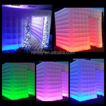 Hot sale wedding LED Lighting inflatable photo booth for sale