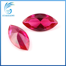 2016 hot sale machine cut marquise shape synthetic ruby price