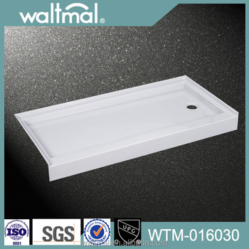 cUPC Approved Acrylic Showers Tray With Wall Flange, Shower Flooring