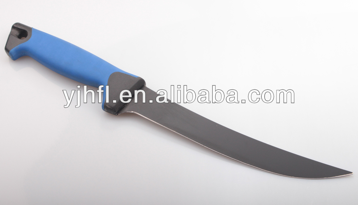 Carp fishing tackle with teflon coated blade