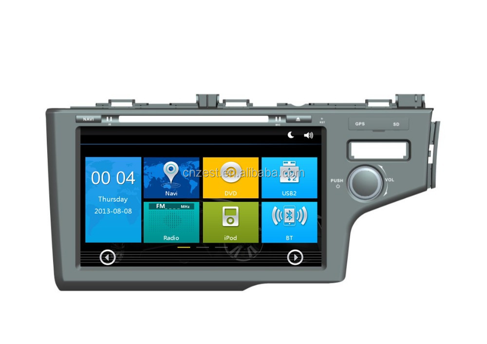 In-dash car dvd car gps car dvd gps for honda fit 2014 accessories with radio,swc,sd card,phonebook,bluetooth