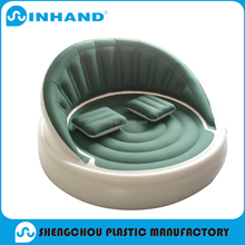 high quality flocked inflatable sofa, home furniture promotional round sofa