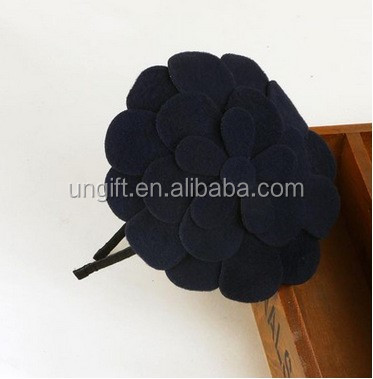 Black Color Flower Decor Women Girls Hair Hoop Band Headband Ornament
