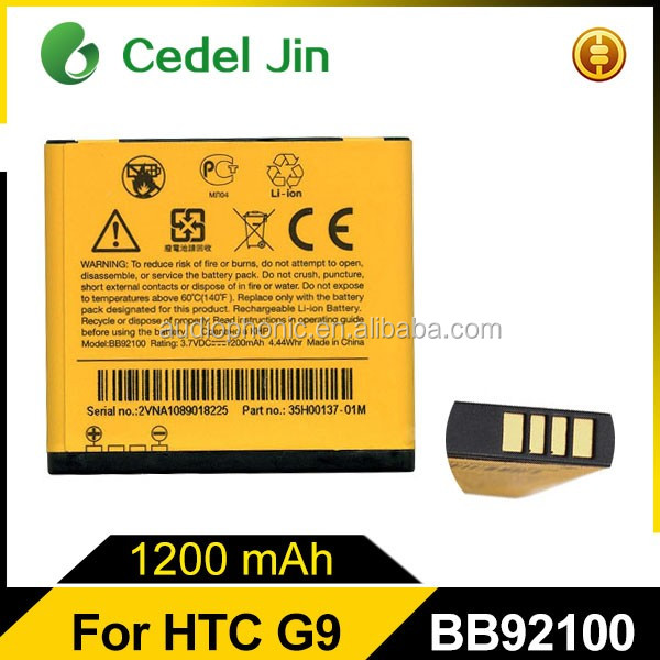 High quality and Durable spice mobile phone BB92100 Battery For HTC G9A HD Mini