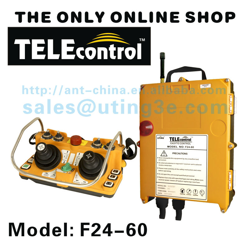 Factory Price Telecontrol uting F24-60 5 speed dual Joystick industrial radio remote control for crane