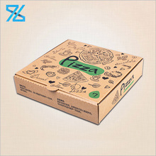 Wholesale Custom Logo Print Disposable Take Out 9 Inch Pizza Box With Kraft Paper