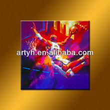 Famous Basketball Star Abstract Sport Painting