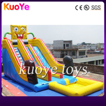 spongebob inflatable pool water slide big water slide inflatable pool commercial pvc slide