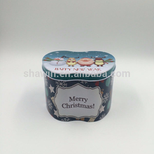Snowman Christmas candy tin box,Apple shape candy box