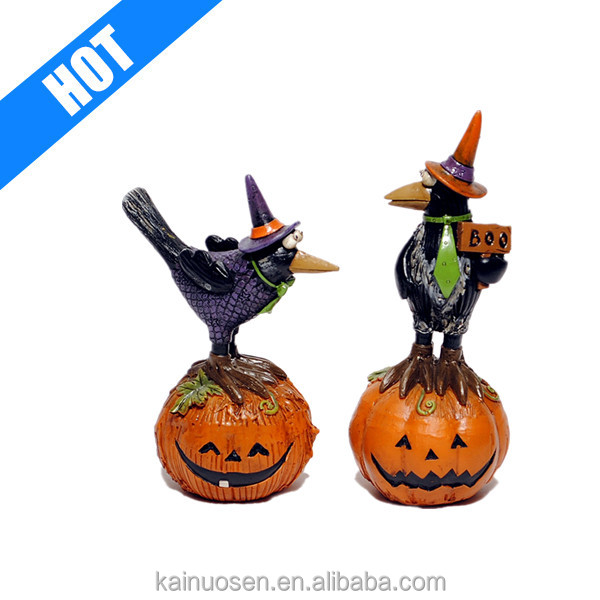 Hot Sale Personalized Resin Halloween A Pair Crows
