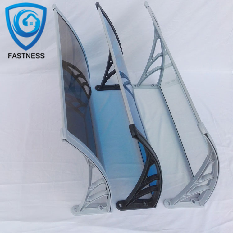 Durable aluminum alloy frame polycarbonate PC terrace canopy clear plastic the door awnings