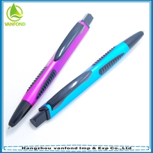 Custom colorful plastic ball pen/stylus pens wholesale from china
