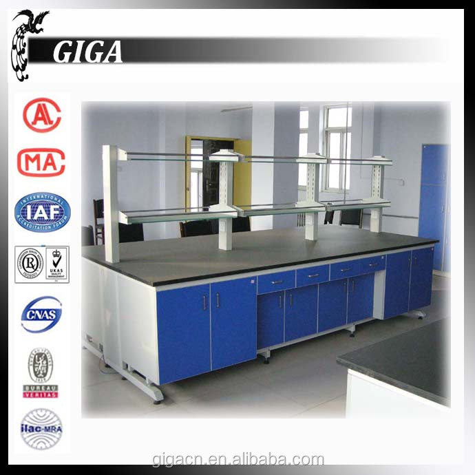 GIGA phenolic resin table top wooden lab table