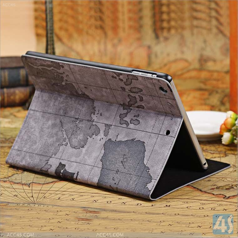 World Map Leatherette Case Cover for Apple iPad Air 5--P-IPD5CASE039