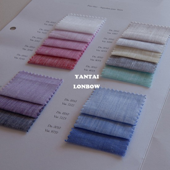 from China supplier 16 color ready stock 100% linen fabric
