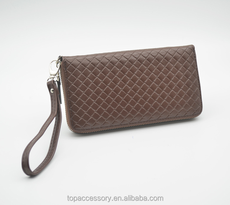 Fashion Simple Classic Style Genuine Cowhide Leather Purse For Woman Wholesale