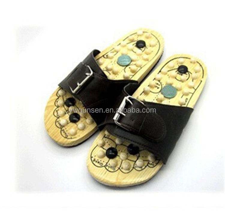 popular man slippers wooden foot massage shoes