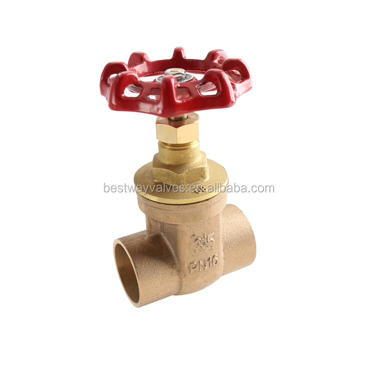 BWVA CE certification professional forged brass gate valve