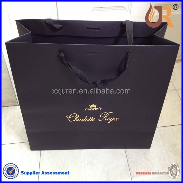 payment asia alibaba china black luxury Paper Shopping Bags wholesale
